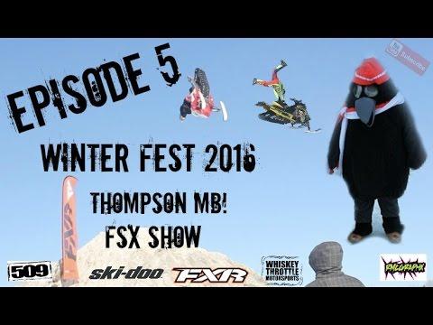 Snowmobile vlog  Shred Sled Adventures Episode 5 Winter Fest FSX Show