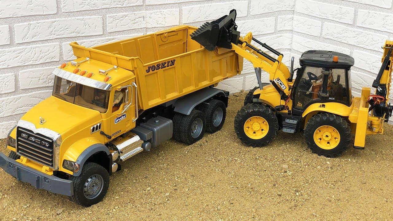 Amazing Trucks Compilation, Bruder Toys 6x6 RC Mack Dump Truck Construction Site Videos!