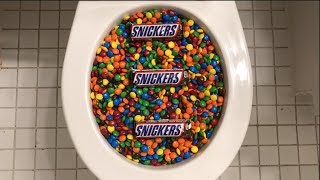 Will it Flush? - M&M's and Snickers
