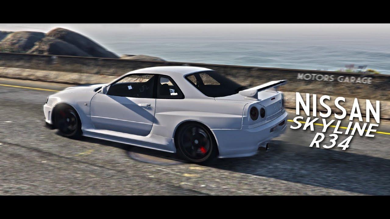 grand theft auto v pc mods nissan skyline gtr r34 downloadgta v pc