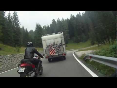 sella - pordoi Moto Guzzi Griso 850 Stelvio 1200 BMW F800ST on board