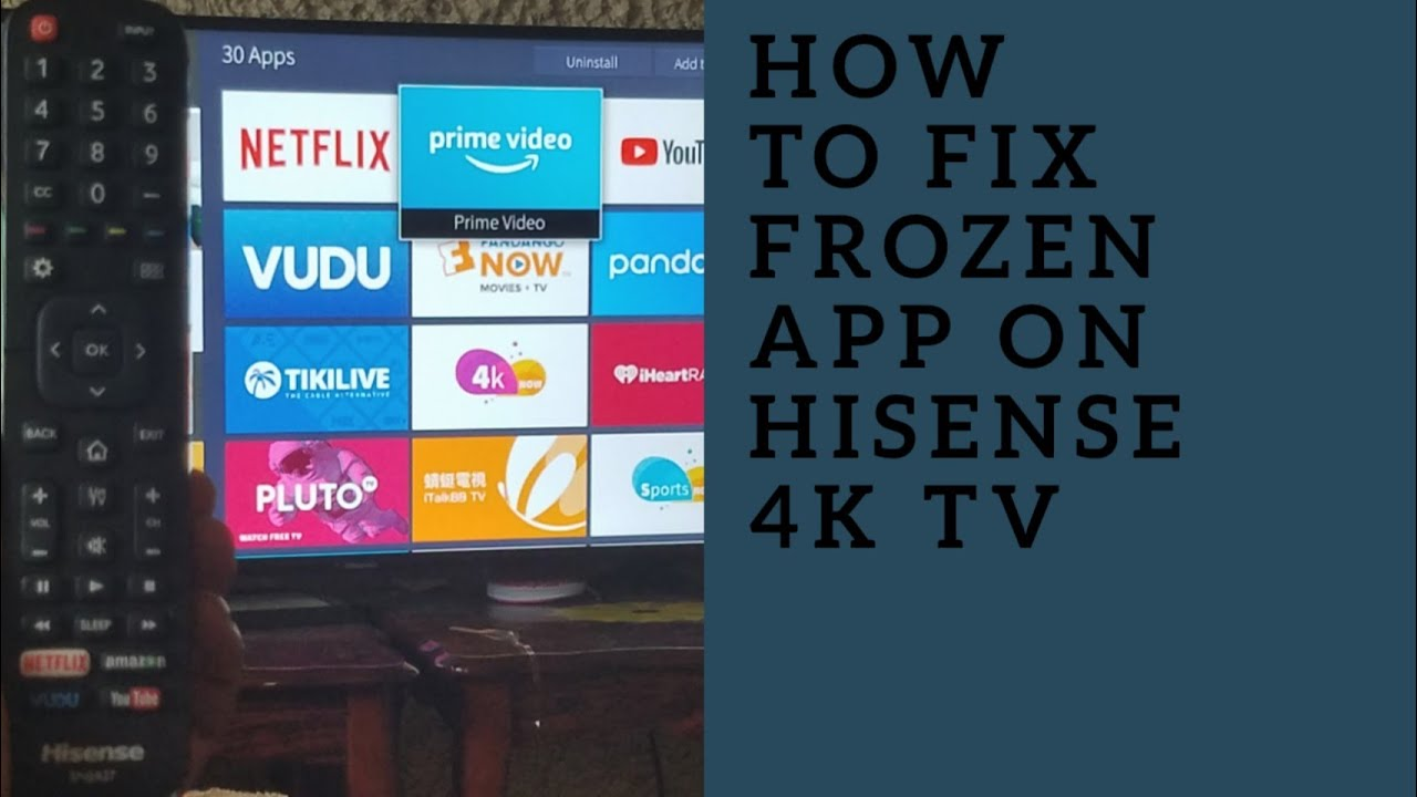 How to fix Hisense 4K smart TV Frozen app