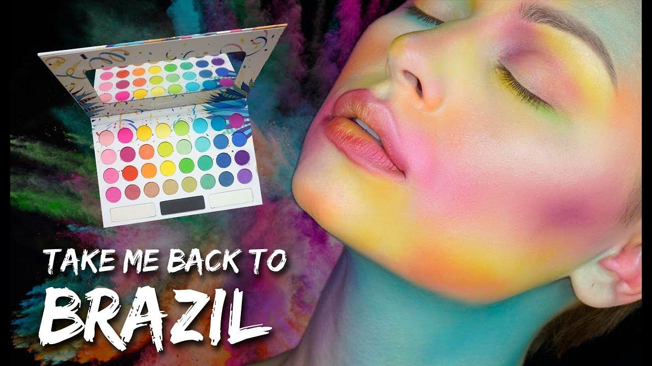 colorful makeup take me back to brazil palette tutorial bh cosmetics alexandra anele youtube. Black Bedroom Furniture Sets. Home Design Ideas
