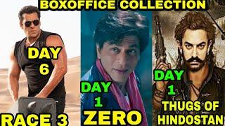 Boxoffice Collection of Race 3, Thugs of Hindostan, Zero 2018 Salman khan, Shahrukh Khan, Aamir khan