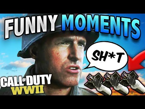 COD World War 2 - FUNNY *GLIDE BOMB* DEATHS, RAGES & SNIPING! (Funny Moments!)