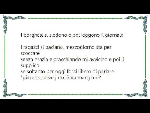 Baustelle - Il Corvo Joe Lyrics