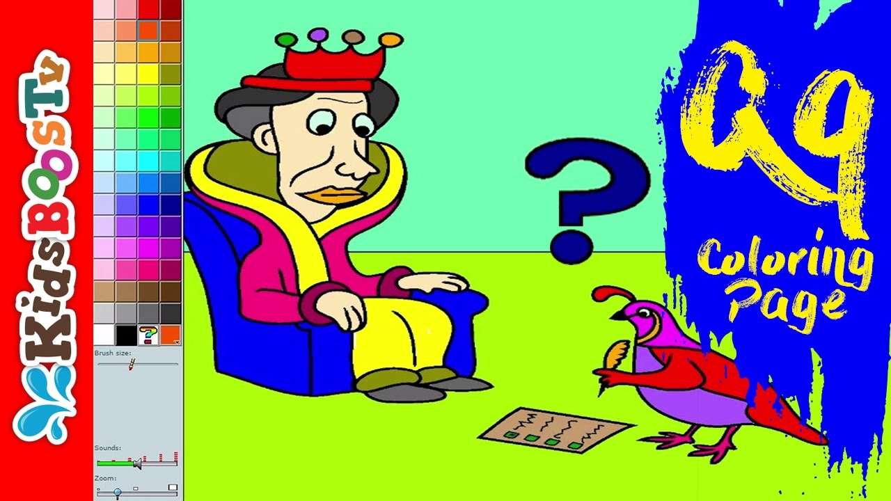 Alphabet Q Coloring Pages For Kids Learning Letter Q Coloring