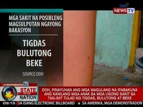 SONA: DOH sa mga magulang: Ipabakuna ang mga anak laban sa mga sakit sa tag-init