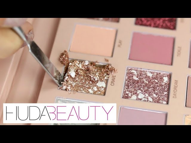 HUDA BEAUTY NEW NUDES - Weighing, Destroying & Re-Pressing   THE MAKEUP BREAKUP