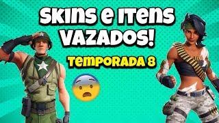 SKINS DA TEMPORADA 8 VAZADAS! FORTNITE...