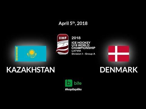 Kazakhstan - Denmark, Ice Hockey U18 World Championship, 2018