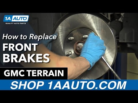 How to Replace Install Front Brakes 2014 GMC Terrain Buy Quality Auto Parts at 1AAuto.com