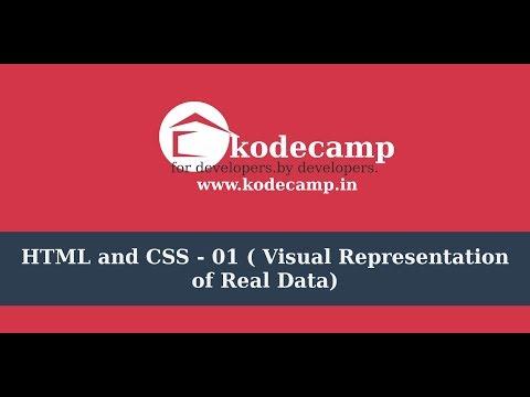Html & CSS : 01 : Visual Representation Of Data | Hindi