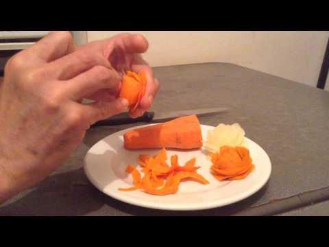 Cách tỉa hoa hồng bằng củ cà rốt