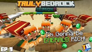 Becoming Emerald RICH! | TrulyBedrock Season 2 [#9] | Minecraft Bedrock Edition SMP Server