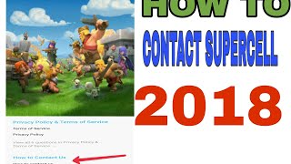 [Gaming ] How to contact supercell after the update 2018  supercell ko kaise contact kare 2018
