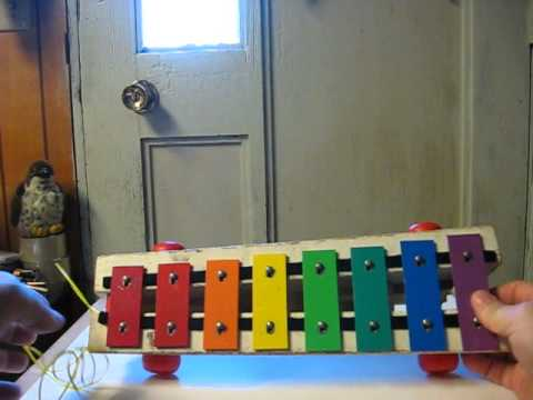 Sale Item Demo - Fisher Price Pull-A-Tune Xylophone - 1978 Edition