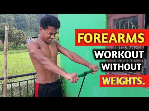 FOREARM WORKOUT Without Weights | poor man's gym | ANISH FITNESS |