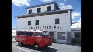 Cols du Nufenen et du Grimsel en Bus VW  2013