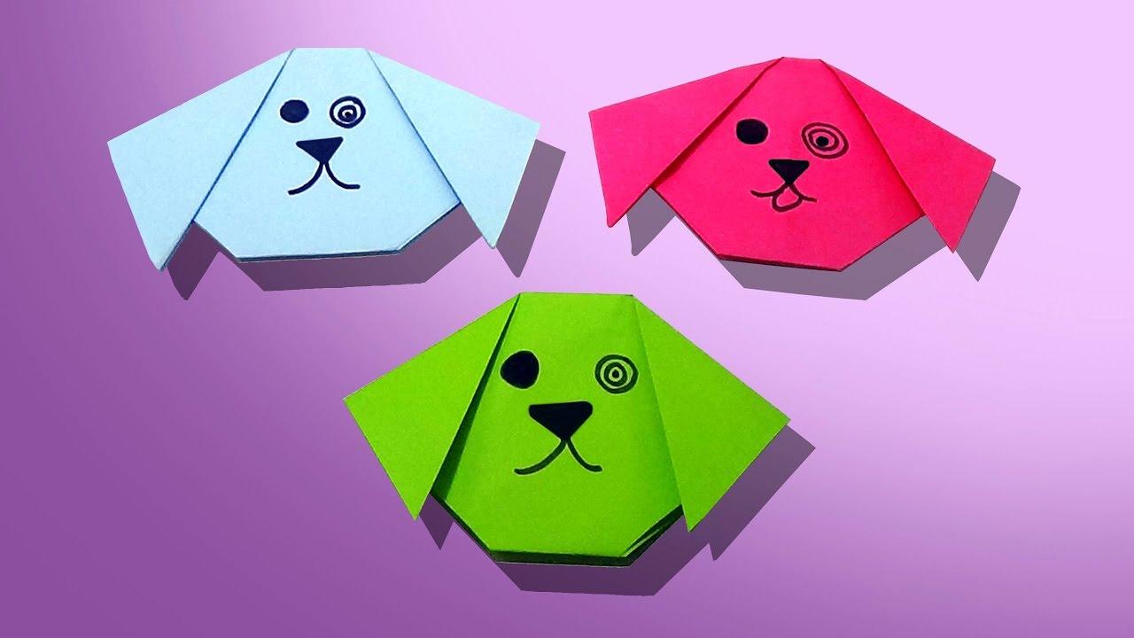 Нарисовать карандашом, картинка оригами собачка