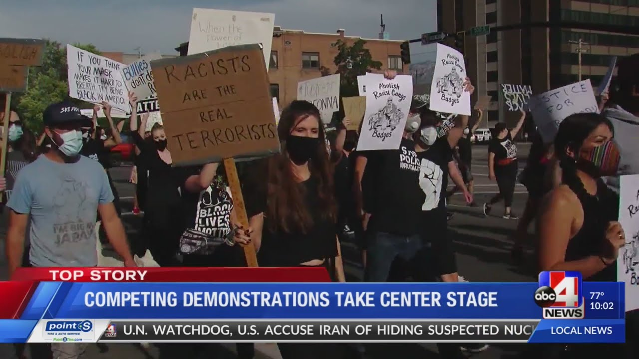 Defund the Police & Blue Rally in Salt Lake City