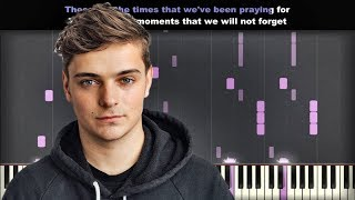 Martin Garrix feat JRM - These Are The Times | Piano Cover | Instrumental Karaoke