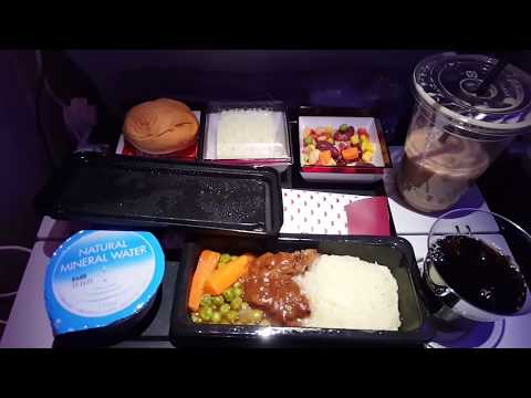 12 hours long flight journey on Qatar Airways A350 - Japan to Qatar - QR813