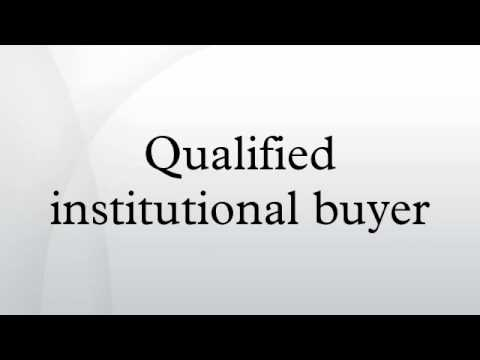 Qualified institutional buyer