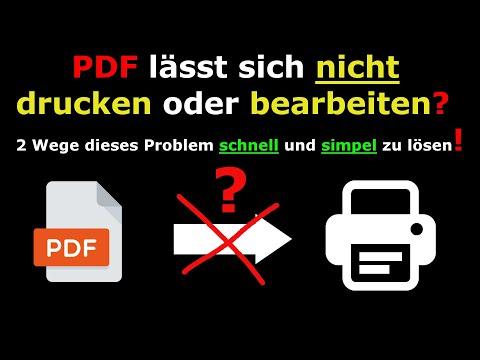 PDF lässt sich nicht bearbeiten/drucken? - Druckschutz EINFACH entfernen!🔥 from YouTube · Duration:  3 minutes 41 seconds