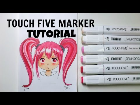 CHEAP COPIC ALTERNATIVE - Touch Five Marker Tutorial/ How to use Touch Five Markers