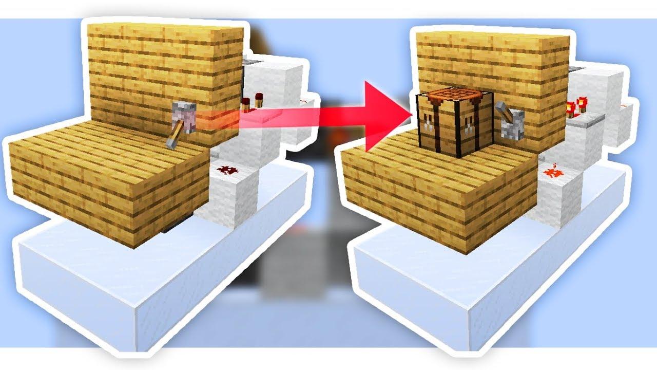 Cara Membuat Hidden Crafting Table | Minecraft Indonesia ...