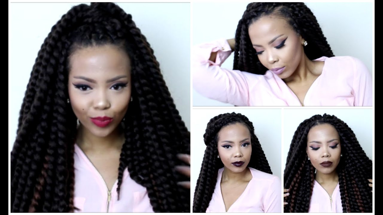 How To | Quick U0026 Easy Styles For Senegalese Twists Crochet Braids