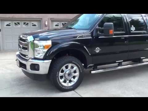 HD VIDEO 2013 FORD F350 LARIAT CREW CAB 4X4 LOG BED FOR SALE SEE WWW SUNSETMOTORS COM