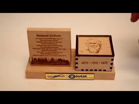 Jana Gana Mana Musical Engraved Box - Independence Day Gift
