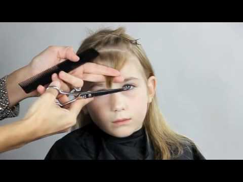 How To Cut Your Kids Bangs Youtube