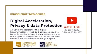 [Live Webinar] Digital Acceleration, Privacy & data Protection