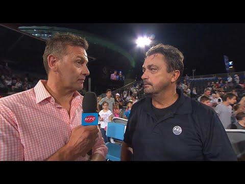 Henri Leconte On Court Interview | World Tennis Challenge 2018