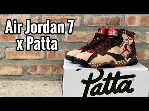 9da0595dc2 Air Jordan 7 x Patta review