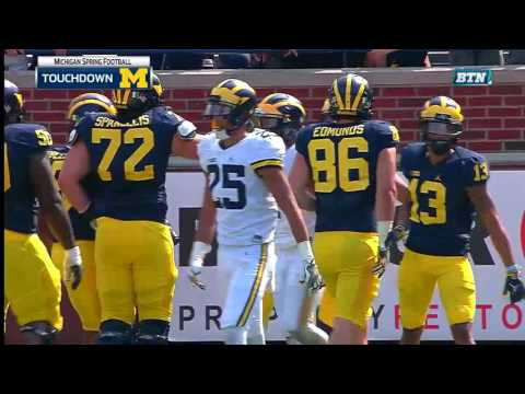 Michigan Spring Football Highlights