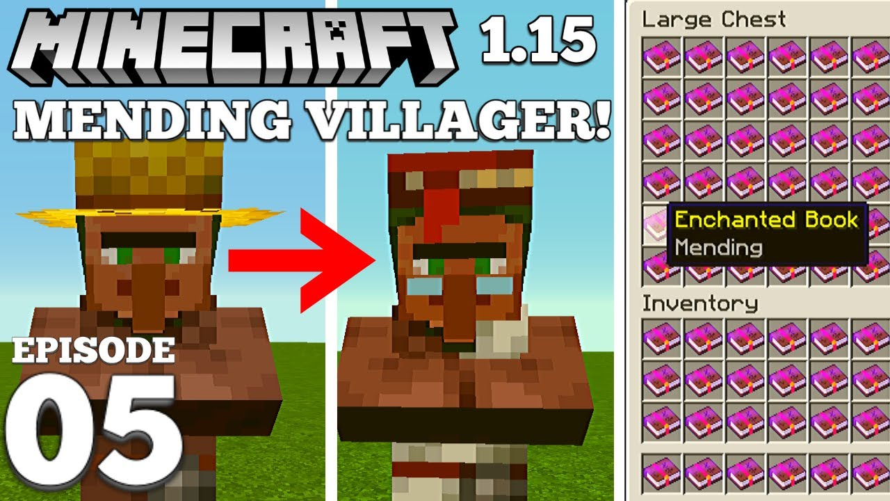 How To Get a Mending Villager Minecraft 8.88+ #8