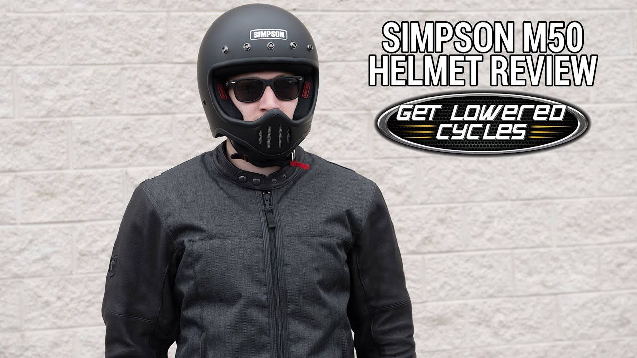 731697e7 Simpson M50 Motorcycle Helmet Review - GetLowered.com - YouTube