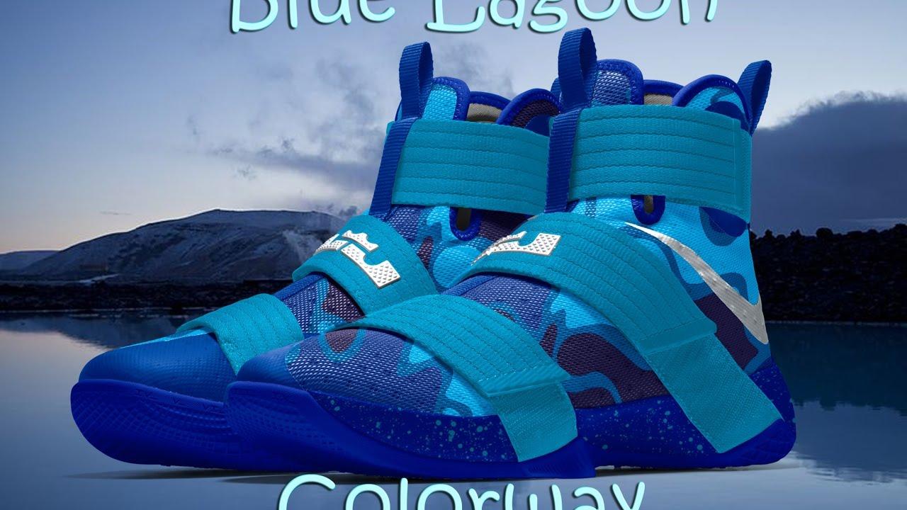 best authentic c76e6 68755 Lebron Soldier 10 Blue Lagoon Colorways Custom Nike ID
