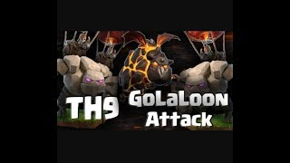Unbelievable attack / best th9 half ground and half air army attack 'GOLALOON' / must watch
