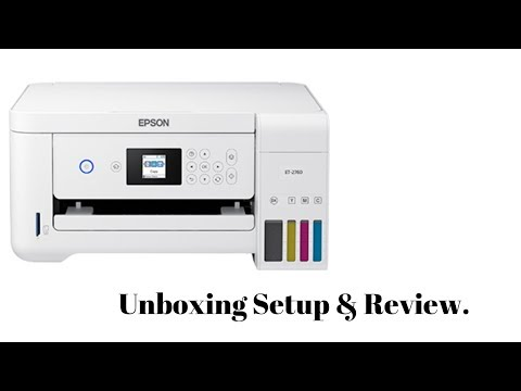 Epson ET 2760 - Unboxing, Setup & Review