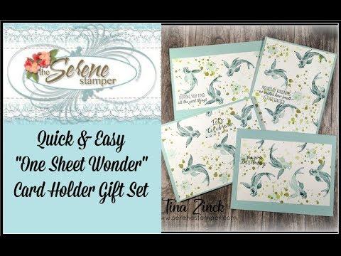 Quick & Easy One Sheet Wonder Card Holder Gift Set