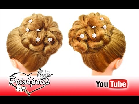 Peinado de novia graduacion peinados y recogidos e doovi - Peinados faciles y elegantes ...