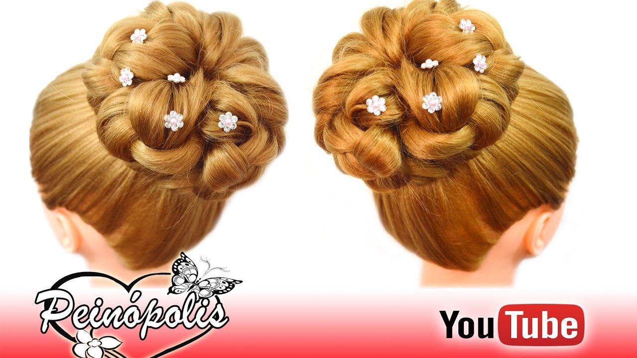 Peinados faciles y rapidos con coletas recogidos con trenzas para novias elegantes youtube - Peinados faciles y elegantes ...