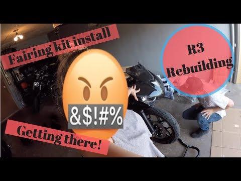 Yamaha R3 Rebuild / Fairing removal / install Part 1/2