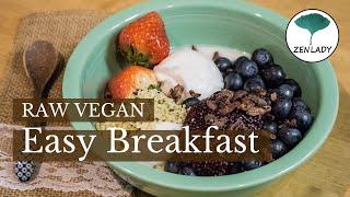 Easy Raw Vegan breakfast step by step for beginners. Raw Vegan Japan ロービーガン 生ビーガン東京 טבעונאי rohvegan