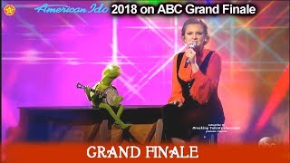 "Maddie Poppe  and Kermit the Frog duet ""Rainbow Connection"" American Idol 2018  Grand Finale"